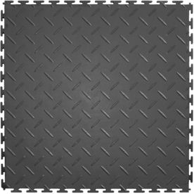 Shop Perfection Floor Tile 8 Piece 20 5 In X 20 5 In Light Gray Raised Coin Garage Floor Tile At Lowes Com Garage Floor Tiles Tile Floor Garage Floor