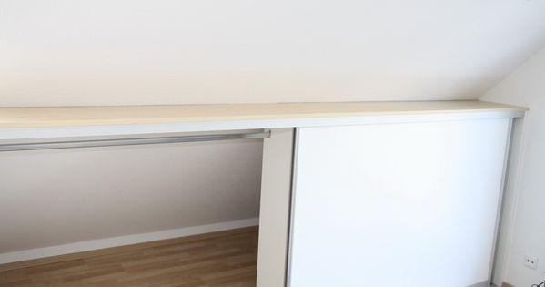 einbauschrank vor die dachschr ge gebaut mit kleiderstange dachschr ge pinterest. Black Bedroom Furniture Sets. Home Design Ideas