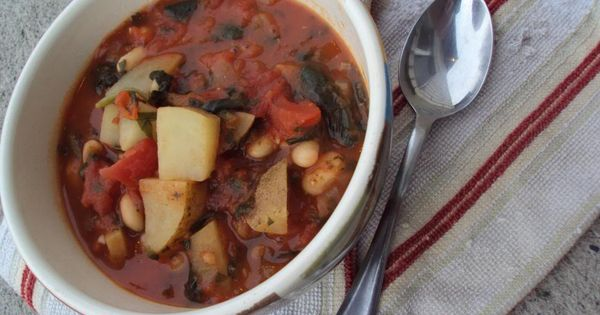 White Bean, Spinach and Potato Stew (VEGAN)   spinach & other cool ...