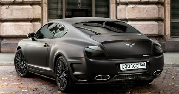 Matte Black Bentley Continental sport cars celebritys sport cars ferrari vs lamborghini