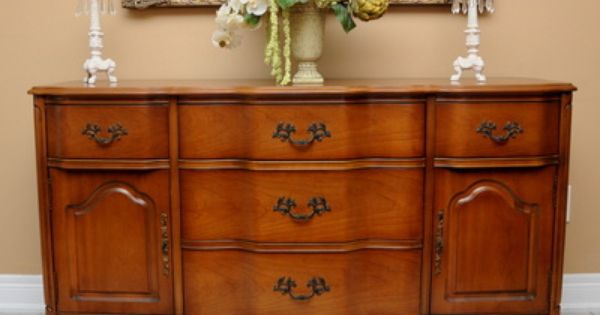 Basset Furniture Co French Provincial Sideboard Buffet