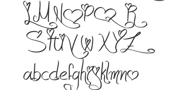 Girly alphabet fonts apr they can berkley font for Girly font tattoo
