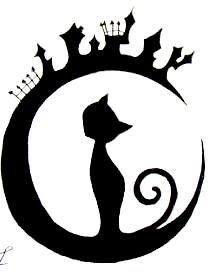 Black Cat By Gothic Moonlight On Deviantart Black Cat Tattoos Cat Tattoo Coraline Cat