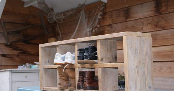 Steigerhouten schoenenrek meubels wonen met puk casa pinterest meubels - Decoratie hoofdslaapkamer ...