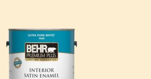 Behr Premium Plus 1 Gal 300a 1 Opal Cream Satin Enamel Low Odor Interior Paint And Primer In One 705001 The Home Depot Interior Paint Behr Premium Plus Cover Stains