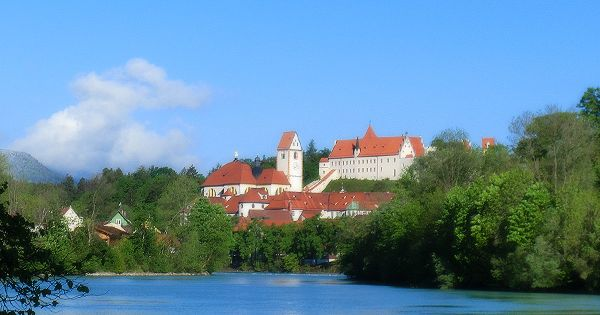 The wonderful city of Fuessen in Germany. Directly near the Neuschwanstein Castle.