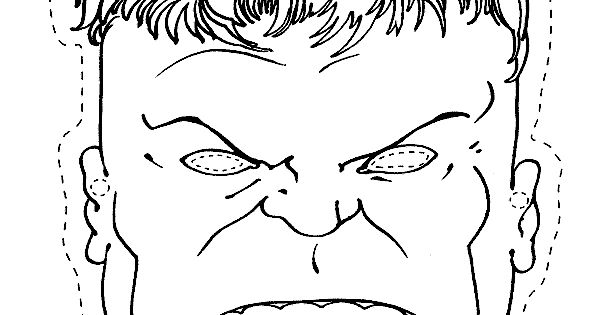 coloring pages for kidsthe hulk mask birthday party