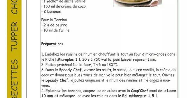 Tupperware terrine au lait de coco et bananes ultra for Micro vap violet