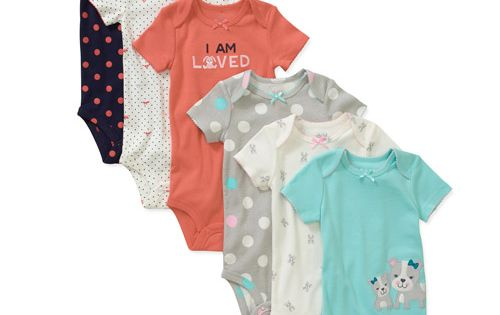 Child Of Mine By Carters Newborn Girls 6 Pack Assorted