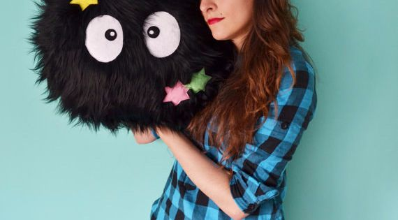 Soot Sprite Pillow | 47 Insanely Adorable Studio Ghibli Items You Need