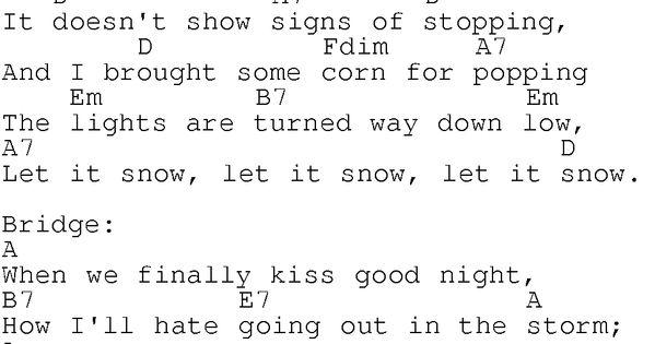 LET IT SNOW! LET IT SNOW! LET IT SNOW! Chords - Ella ...
