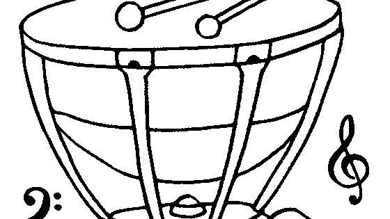 Timpani Coloring Page