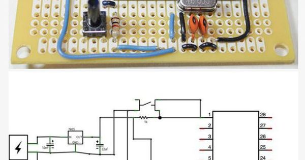 Fabricate your own arduino board for permanent embedding