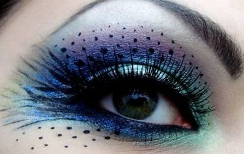 peacock makeup idea. i love eye makeup