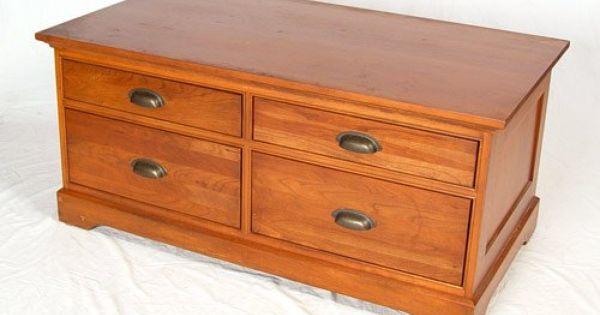 Marston light cherry coffee table restoration hardware for Restoration hardware furniture manufacturer
