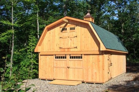 20 X 30 Gambrel Garage With Loft Gambrel Style Beach Cottage Style Backyard Buildings