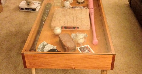 Baseball Bat Leg Shadow Box Coffee Table Bookshelves Tables And Cabinets Pinterest