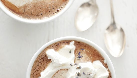 Lavender hot chocolate. hot hotchocolate chocolate drink recipes home yourhomemagazine