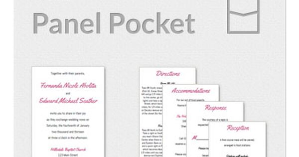 Panel Pocket 5x7 Invitation Template | Wedding | Pinterest | Invitation templates, Wedding and ...