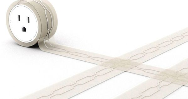 Great idea // Flat extension cord for under rugs