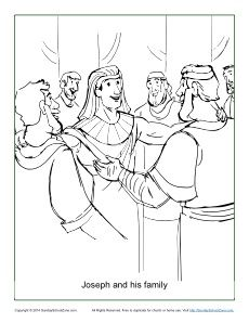 Joseph And His Family Coloring Page On Sunday School Zone Family Coloring Pages Bible Coloring Pages Family Coloring