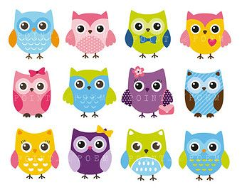 Owl Clipart Commercial Use Clip Art Owl Girl Baby Shower Cute Owls Pink Owl Baby Owl Pink Purple Owl Clip Art Owl Baby Shower Cute Owl