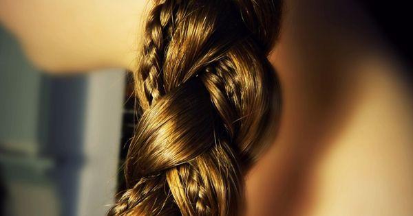 Two small braids within a braid. braid hair