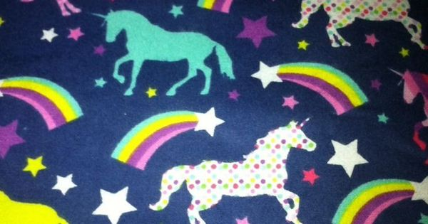 Rainbow polka dot unicorn flannel fabric 1 yard fabric for Space unicorn fabric
