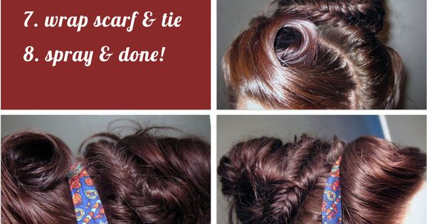 Hair: Messy Fishtail Bun With Rolled bangs