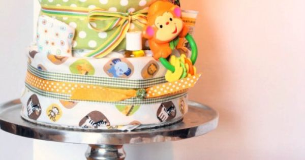DIY Diaper Cake Tutorial ~ A great tutorial on how to build