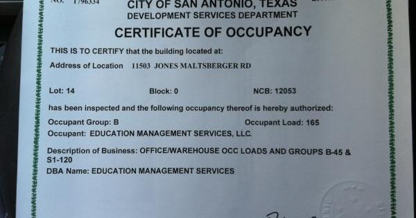 We officially got our Certificate of Occupancy for our new ...