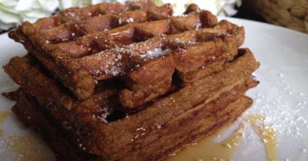 Pumpkin waffles, Gingerbread and Waffles on Pinterest