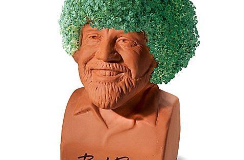 Chia Pet Bob Ross Chia Pet Chia Pet Bob Ross Pottery Planters