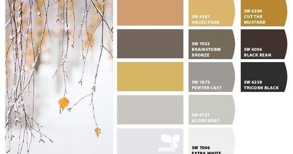 Sherwin Williams Paint Chips Applied To A Design Seeds