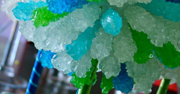 Rock Candy Topiary Tree for the Candy Buffet Decor