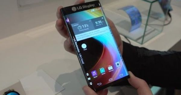Lg Display Shows Off Screen With Double Note Edge Style Curves Lg Display Flexible Screen Phone
