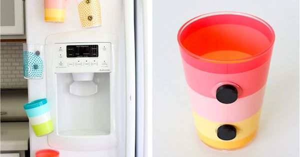 DIY Magnetic Cups - no more using 50 cups a day for
