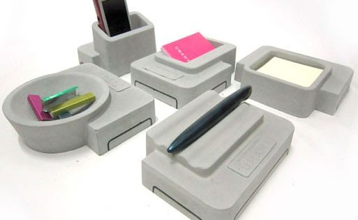 Umamy concrete desk accessories accessories better - Lifta desk organizer ...