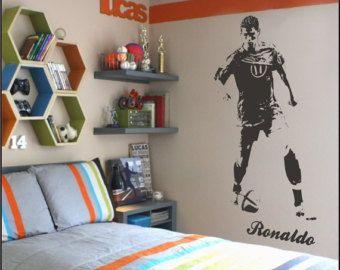 Cristiano Ronaldo Wall Decal Real Madrid By Vinylwallartworks
