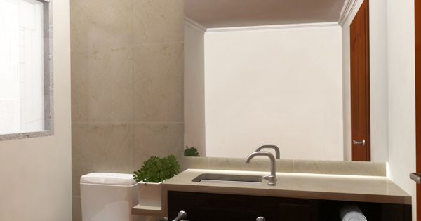 Remodelacion de casas e interiores imagen del render de for Medio bano pequeno