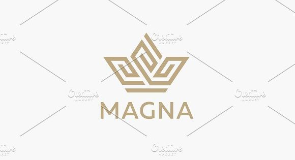 Crown flower logo icon vector design. Premium house hotel spa logotype. Royal king linear emblem
