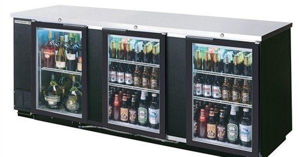 Beverage Air Commercial Refrigeration 94 Quot Glass Door Back Bar Bb94g 1 S Pt Glass Door Refrigerator Bar Refrigerator Glass Door