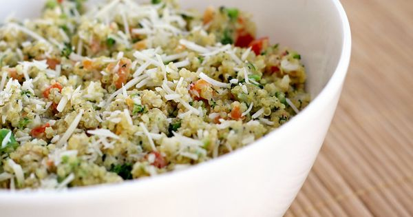 Creamy quinoa primavera - a winning recipe (I replaced the cream cheese