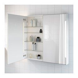 Storjorm Mirror Cabinet W 2 Doors Light White 39 3 8x5 1 2x37 3 4 Ikea Bathroom Mirror Cabinet Mirror Cabinets Mirror Cabinet With Light