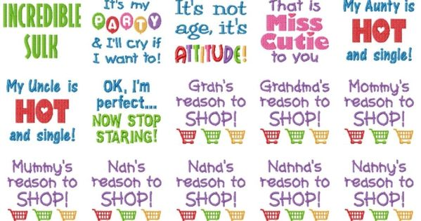 Embroidery Designs Baby Sayings