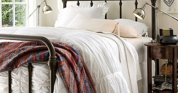 Love the cast iron bed frame. | Pottery Barn