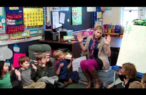 This 1st grade teacher engages her students with great attention-keeper strategies; classroom