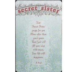 Cute Secret Sister Quotes Sisters Are Forever Birthday ...