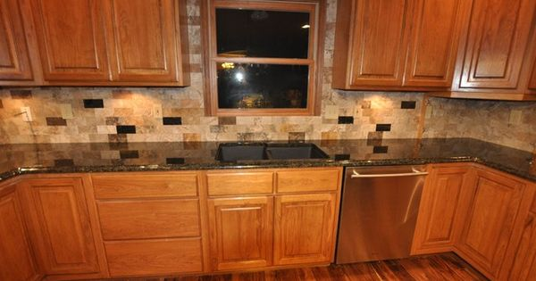Tiled Kitchen Countertops Designs Oak With Dark Tile Countertops