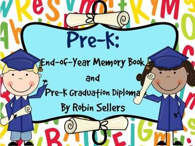 Preschool Graduation Diplomas And Preschool Memory Book Pre K Version Too From Robin Sellers On